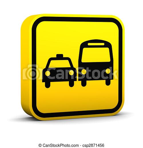 Ground Transportation Sign - csp2871456