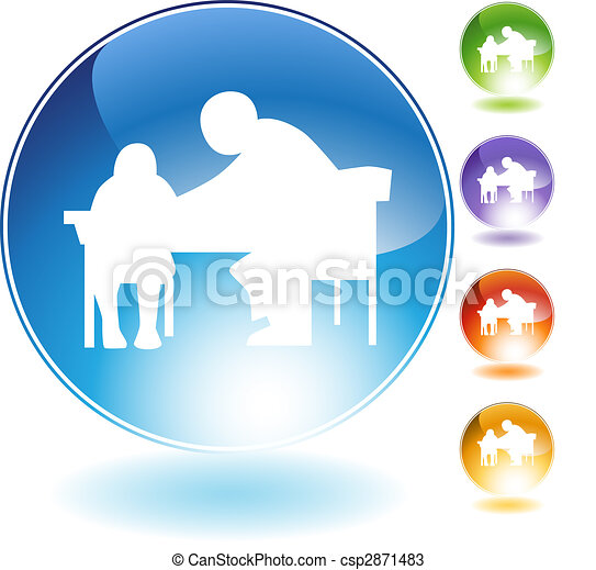 Tutor Teaching Crystal Icon - csp2871483