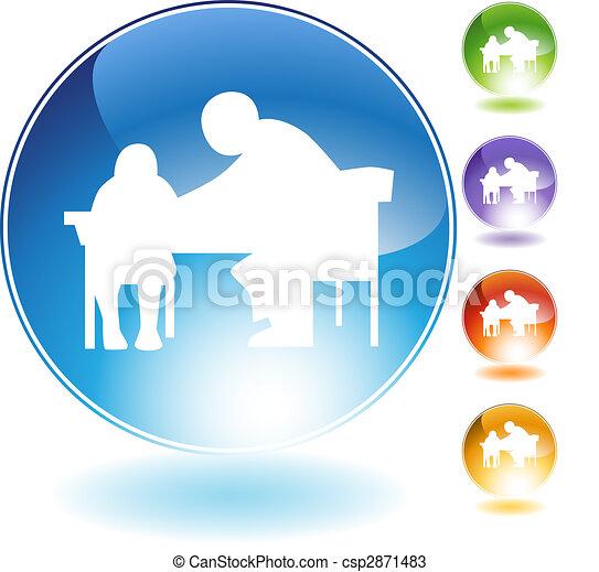 Tutor Teaching Crystal Icon - csp2871483