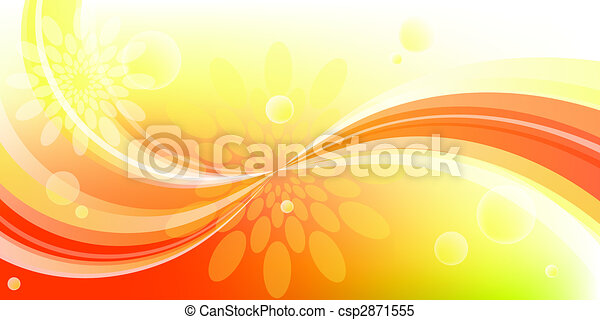 curve and flower background - csp2871555