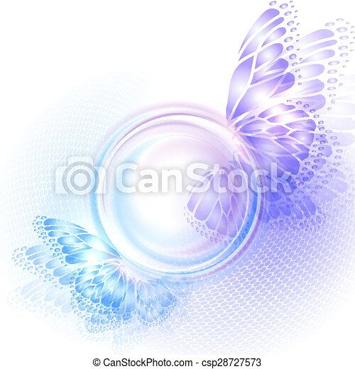 Background with soft transparent circle - csp28727573