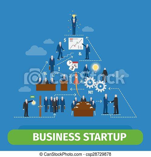 Business pyramid infographics - csp28729878
