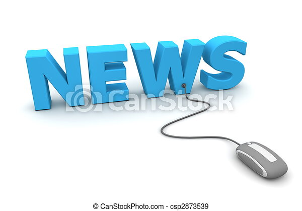 Browse the News - Grey Mouse - csp2873539