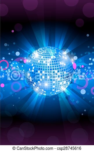 Vector Clip Art of Musical background blue, dance party flyer ...