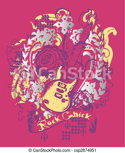 music style emblem - csp2874951