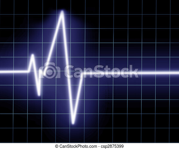 Heart beat on clinic monitor - csp2875399