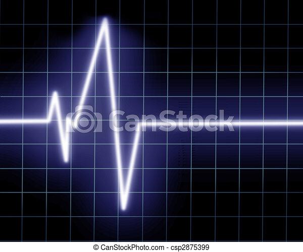 Heart beat on clinic monitor - csp2875399
