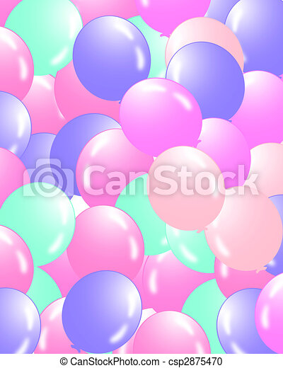 Balloons filling the background - csp2875470