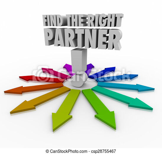 Stock Illustration of Find the Right Partner Choose Candidate ...