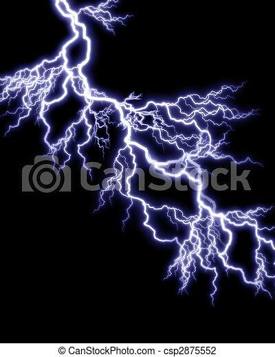 clip art of lightning strike on black background