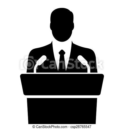 EPS vector de orador, vector, Tribune, Oratoria ...