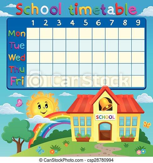 School Timetables School Timetable With School