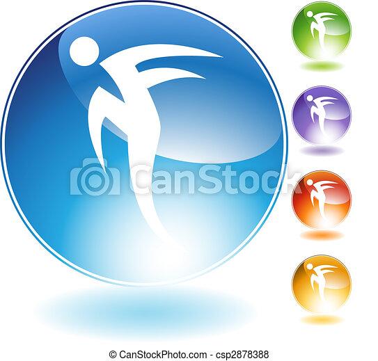 Rush Step Dancer Crystal Icon - csp2878388