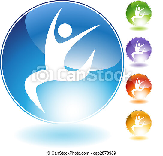 Leaping Dancer Crystal Icon - csp2878389