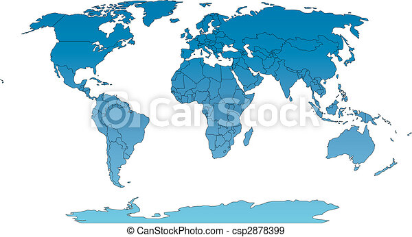 World Robinson Map with Countries - csp2878399
