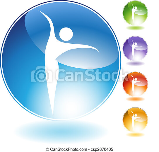 Ballet Dancer Crystal Icon - csp2878405