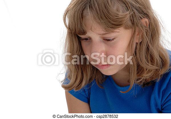 Sad Adolescent Girl - csp2878532