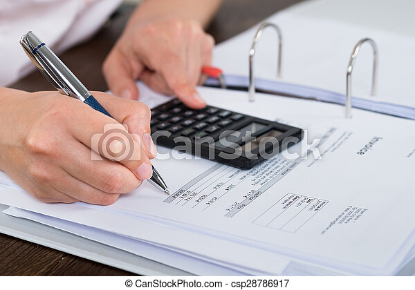 Accountant Doing Calculation