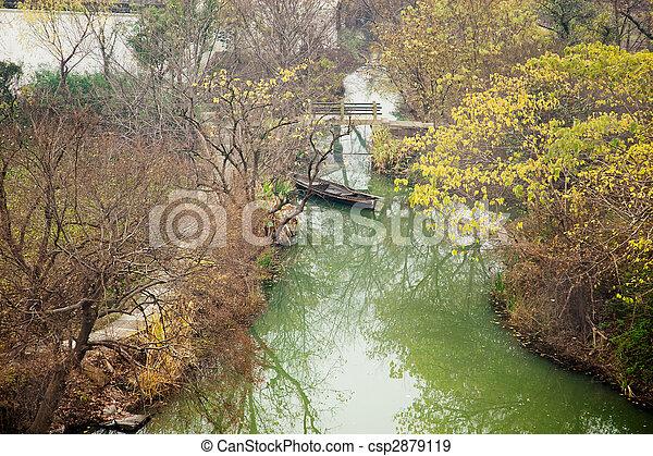 Beautiful scenics in Xixi National wetland park - csp2879119