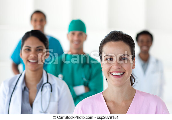internacional, médico, equipe - csp2879151