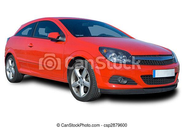 Auto, rotes - csp2879600