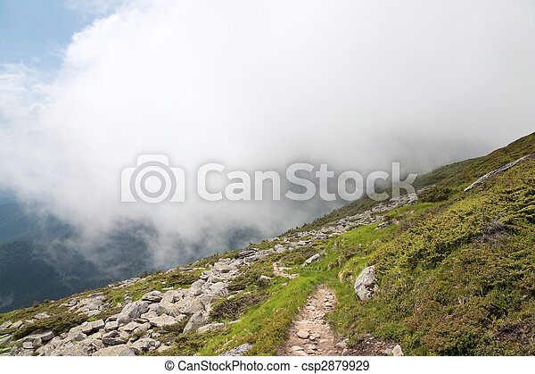 large stones on summer mountainside - csp2879929