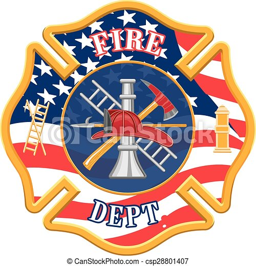 Vector Clipart of Fire Department Cross is an illustration of a ...