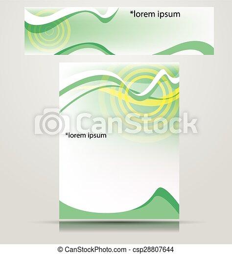 stylish layout corporate identity - csp28807644