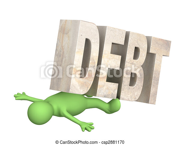 Hostage of the debt - csp2881170