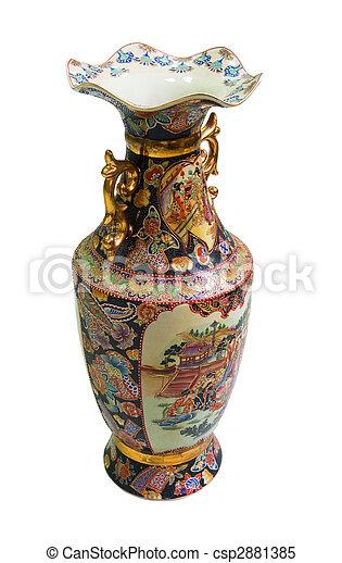Chinese antique porcelain vase - csp2881385