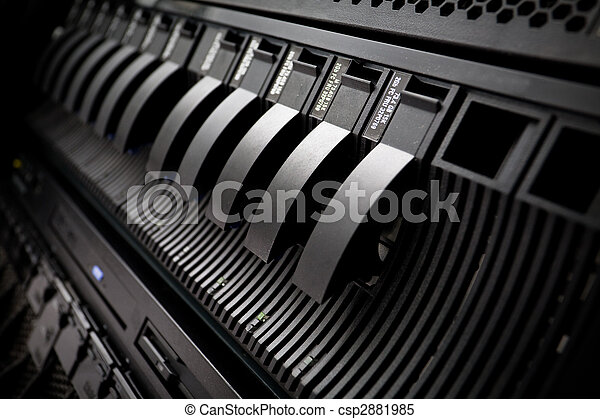Server rack SAN in data center - csp2881985