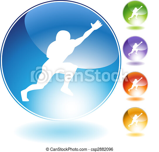 Catching Football Crystal Icon - csp2882096