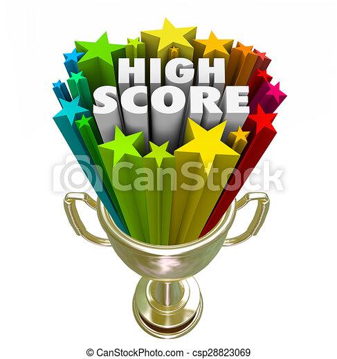 Stock Illustration of High Score Winner Trophy New Record ...