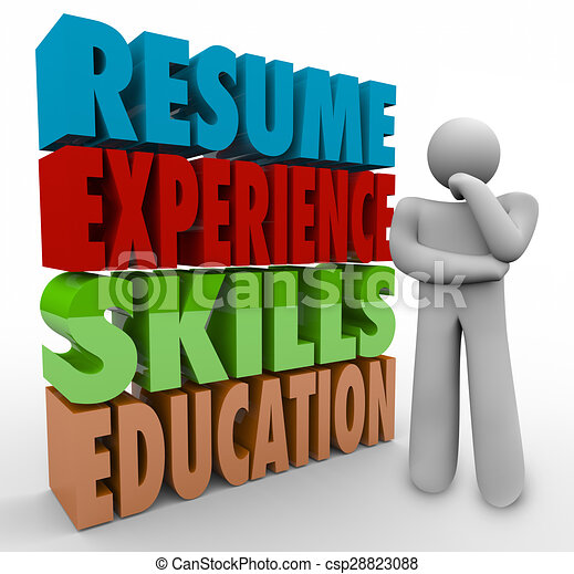 Resume Experience Skills Education Thinker Applying Job Qualifications ...