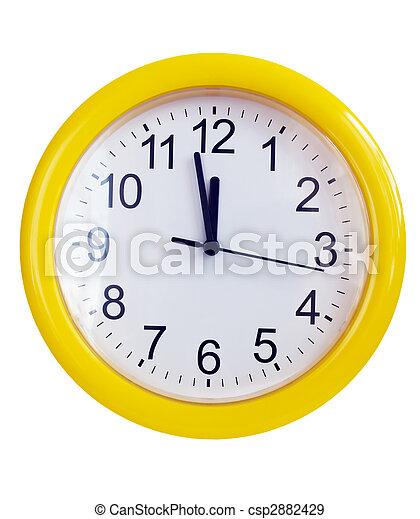 Yellow wall clock - csp2882429