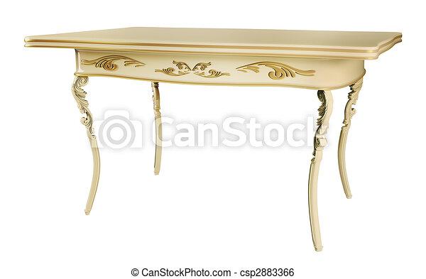 Antique Table 3d - csp2883366
