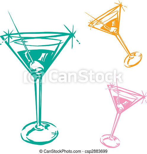 Cocktail Glass Illustration - csp2883699