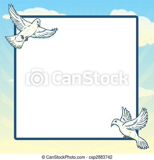 Dove in flight frame design - csp2883742
