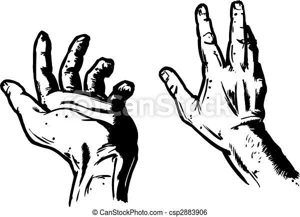 Hands In Fear Expression - csp2883906