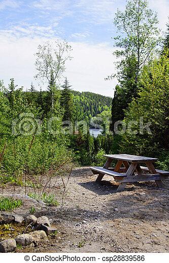 Camp site in the wild - csp28839586