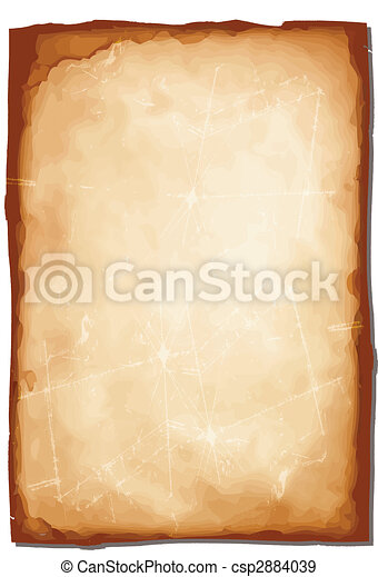 Rough broken old paper vector illustration - csp2884039