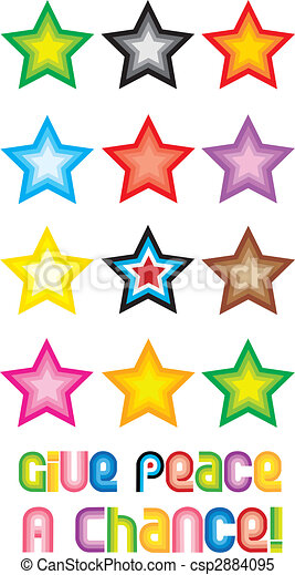 Peace Stars Symbol - Give peace a chance - csp2884095