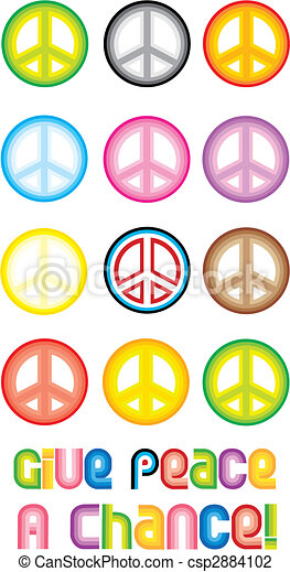 Peace Symbol - Give peace a chance - csp2884102