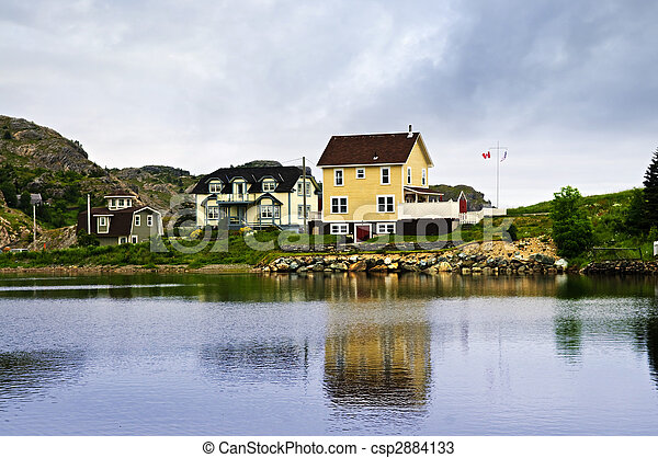 Fishing village in Newfoundland - csp2884133