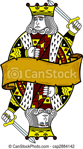 Playing card style king illustration - csp2884142