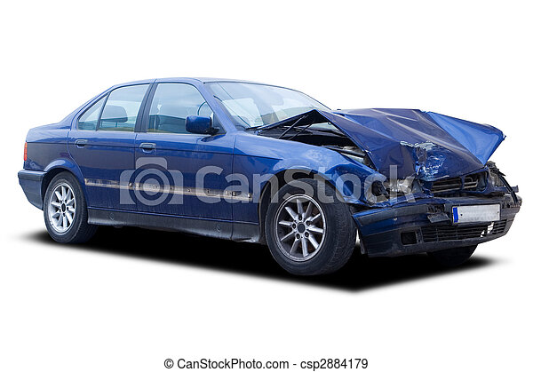 Auto, zerstört - csp2884179
