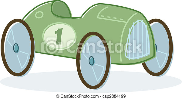 Retro style toy race car illustration - csp2884199