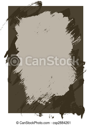 Rough Ink and paint texture background - csp2884261