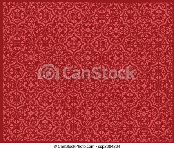 Seamless wallpaper pattern vector illustration - csp2884284