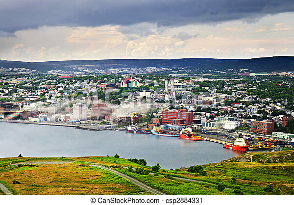 Cityscape of Saint John\'s from Signal Hill - csp2884331